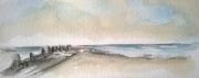 tableau paysages plagemerciel oostendebruggedamm hommagepermeke briselames : OSTENDE-OOSTENDE BRUGGES DAMME 05
