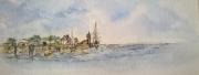 tableau plagemerciel bretagne aquarelle douceur bretonne : LA BRETAGNE LES MINI-AQUARELLES 01