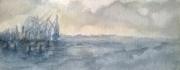 tableau marine plagemerciel bretagne aquarelle port breton : LA BRETAGNE LES MINI-AQUARELLES 02