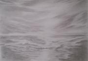 dessin paysages plagemerciel oostendebruggedamm dessin crayon coucher de soleil : 2017-06-01 AMT VANKERK ETUDE OOSTENDE  - OSTENDE REFLET