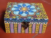 deco design abstrait psychedelique mandala : Boite fleur