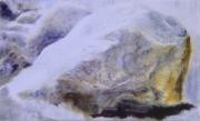 tableau paysages roche givre magie realisme : La pierre givré