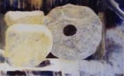 tableau paysages roche givre magie realisme : La Meule