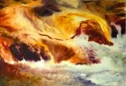 tableau paysages cascade riviere magie realisme : cascade du feu