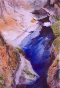 tableau paysages cascade riviere nature realisme : Old man river