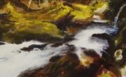 tableau paysages cascade riviere nature realisme : Pulse