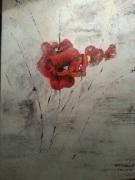 tableau fleurs dijon : COQUELICOTS
