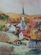 tableau paysages vignes villages : vignes