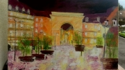 tableau paysages place darcy dijon : Dijon place darcy