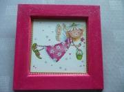 deco design personnages decoration chambre fille rose : PETITE ELFE
