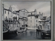 tableau miroir aux oiseaux l ile brescon eglise : Venise  provençale