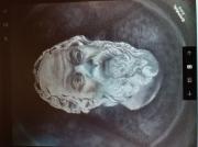 tableau personnages socrate tete visage grec : socrate
