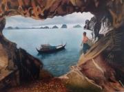 tableau paysages mer asie ocean baie d along : baie d'along