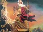 tableau moise biblique hebraique : moise
