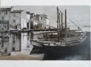 tableau marine port de peche bateaux martigues : martigues