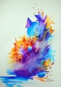 tableau animaux chat aquarelle feerie : Chafouin