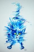 tableau animaux chat aquarelle oeuvre : Chat José