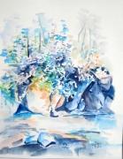 tableau paysages paysage riviere : Du côté de Brousse