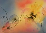 tableau fleurs fleurs couleurs romantisme message : A QUOI PENSES-TU?