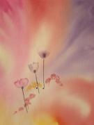 tableau fruits fleurs flou simplicite impressionnisme : LA VIE EN ROSE