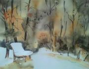 tableau paysages paysage de montagne foret neige arbres : BALLADE EN HAUTES FAGNES...