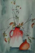 tableau nature morte nature morte fleurs hiver automne : SOURIRE D'HIVER...