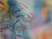 tableau fleurs fleurs couleurs flou paysages d ete : DESSINES DES FLEURS...