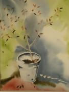 tableau autres jardin arbre realisme automne : FIN SEPTEMBRE