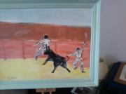 tableau sport peinture jeux aux arenes : dans les arenes