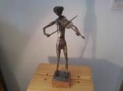 sculpture personnages sculpture le violoniste : le violoniste