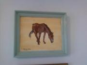 tableau animaux peinture cheval de camargue : cheval de camargue