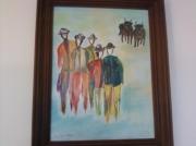 tableau personnages peinture 5 toreros : 5 toreros