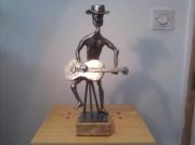 sculpture personnages sculpture guitariste : le.guitariste