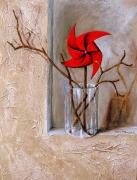 tableau autres trompe l oeil rouge moulin : moulin rouge
