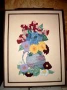artisanat dart fleurs fleurs bouquet multicolore vase : bouquet printanier