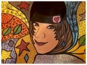 art numerique personnages portrait fille dessin : Nana