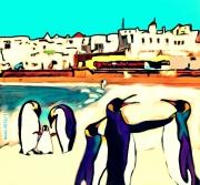 art numerique animaux pingouins essaouira cop22 : Cop22 les pingouins