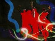 art numerique personnages groupe : silhouettes 2