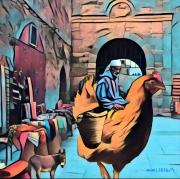 art numerique personnages essaouira ane poule : le petit âne. ...