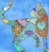 art numerique animaux chat pastel trival : Tribal Cat 1