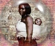 art numerique personnages maman enfant africain : Les mamans