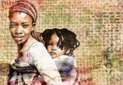 art numerique personnages maman afrique : Les mamans