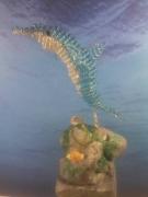 sculpture animaux dauphin perles 3d : dauphin perles
