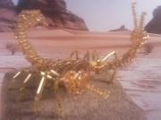 sculpture animaux scorpion perles 3d : scorpion