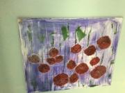 tableau fleurs : Champ de coquelicots