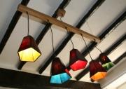 artisanat dart abstrait lustre suspension vitrail tiffany : Les 5 éléments
