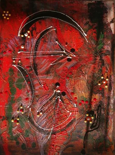 TABLEAU PEINTURE Sagittaire Signe astrologique Abstrait Acrylique  - Le sagittaire signe astrologique