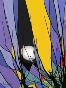 photo : branches en vitrail