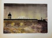 tableau : pont neuf de Toulouse vu un soir