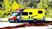 art numerique : camping-car dantesque